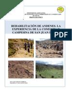 Rehabilitación de andenes en San Juan de Iris