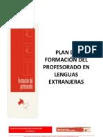 Plan de Formacion Del Profesorado en Lenguas Extranjeras 1