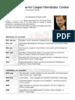 Curriculum Vitae for Casper Hernández Cordes 2012, English
