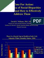 Dr David Williams on Health Disparities