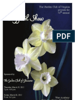2012 GCV Daffodil Show Schedule