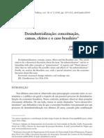 Desindustrializa+º+úo - conceitua+º+úo, causas, efeitos e o caso brasileiro (Oreiro e Feij+¦, 2010)