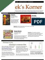 Kordek's Korner Jan 10, 2012