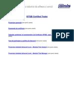 ISTQB Certified Tester Pre Zen Tare 2010