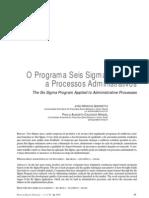 6 Sigma - Aplicação em Processos Administrativos