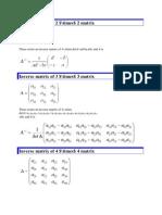Inverse Matrix of 2