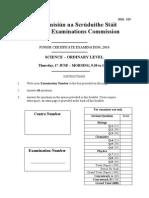 Science Ordinary Level 2010