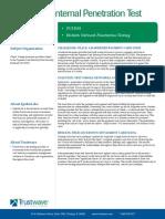 Trustwave Case Study Internal Penetration Test