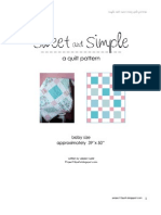 Sweet and Simple Quilt Pattern