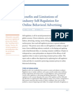 Benefits and Limitations of Industry Self-Regulation for Online Behavioral Advertising