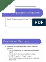 Obj. 16 Trigonometric Functions (Presentation)