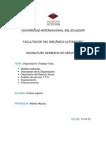 Trabajo Final Gerencia de Servicios (Organización)