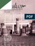 Fsi Italian Programmed Course Volume1 Instructors Manual
