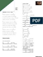 Primer cancionero con notas del coro y banda IN MANUS TUAS DOMINE