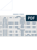 Horario lety