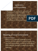 ARTICLE X Local Government