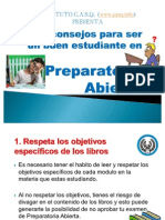 Consejos Para Preparatoria Abierta