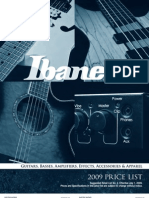09 Ibanez Summer PriceList
