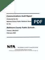 Comm Audit Report