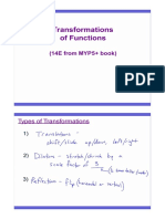 Notes - Day 1 - Transformations of Functions - Block b