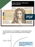 Newton-raphson as Calculus