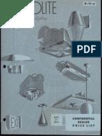Prescolite Full Line Product Price List D-11-A 1957