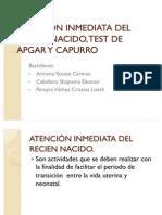 ATENCIÓN INMEDIATA DEL RECIEN NACIDO, TEST DE