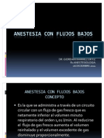 Anestesia Con Flujos Bajos