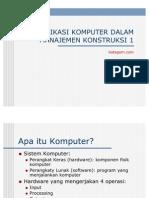 Aplikasi Komputer Dalam Manajemen Konstruksi 1