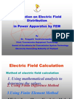 Application on Electric Field Distribution in Power Apparatus by FEM Correct1