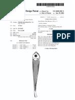 Fishing lure (US patent D492382)