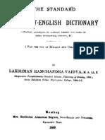 The Standard Sanskrit English Dictionary-Lakshman Ramchandra Vaidya