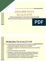 analisis data kualitatif presentase