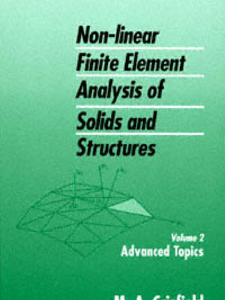 Crisfield Ma Vol2 Non Linear Finite Element Analysis