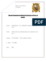 historia de las constituciones del Perú