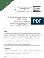 Female Leadership Advantage