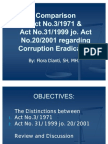 Comparison Act 3 Th 71 & Act 31 Th 99