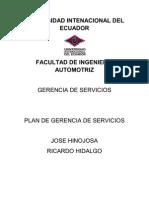 Gerencia de servicios