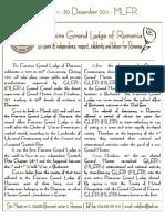 Newsletter 1 - FGLR - Feminine Grand Lodge of Romania
