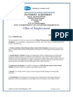 Pfizer Pharmaceutical London United Kingdom Employment Agreement-suresh.k.m