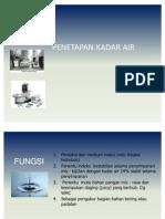 4.Analisis Kadar Air 2011