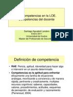 UNIDAD DIDACTICA 1. COMPETENCIAS DEL PROESORADO