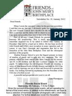 FoJMB Newsletter 2012 01