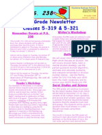 Fifth Grade Newsletter November 2008