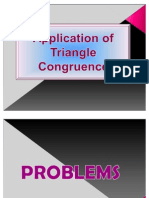 Application of Triangle Congruence