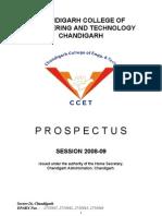 Ccet Degree Prospectus 2008-09