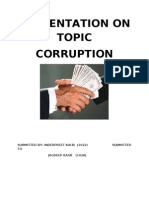 Presentation on Corruption