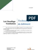 Dossier VMC-Chauffage Technologie Du bâtiment L3 2007