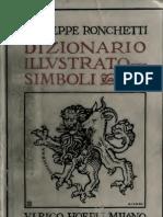 Ronchetti HOEPLI - Dizionario Illustrato Dei Simboli 1922