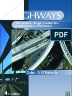 Highways(the Location, Design, Construction and Maintenance of Road Pavements